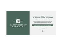 Smokey Hollow Candle Label