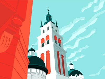 Lviv2 ukraine architecture lviv architecture illustration vector illustration illustration art