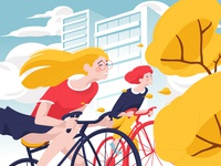 Cyclists Girls
