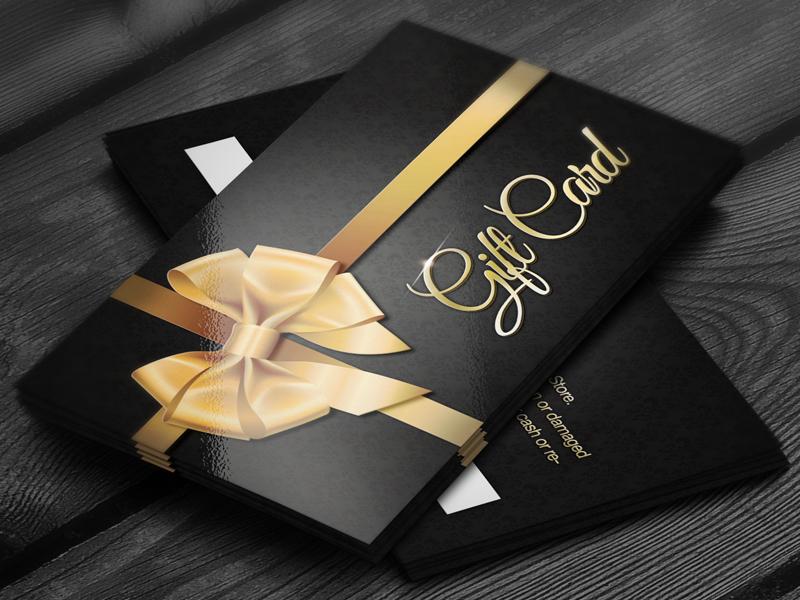 Elegant Golden Gift Cards by Mathias Brandt | Dribbble ...