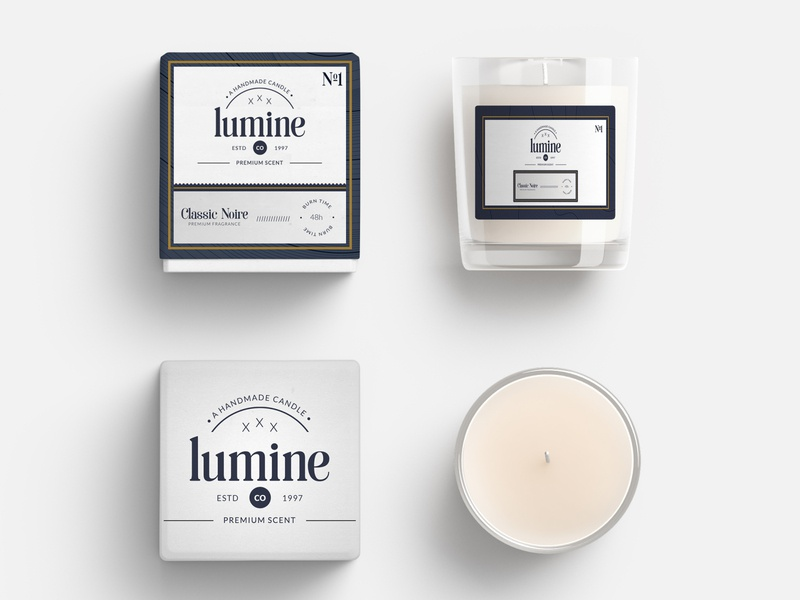 Premium Candle Packaging download psd print ready photoshop professional premium scent light logo business company identity branding cmyk fragrance candle print design design print