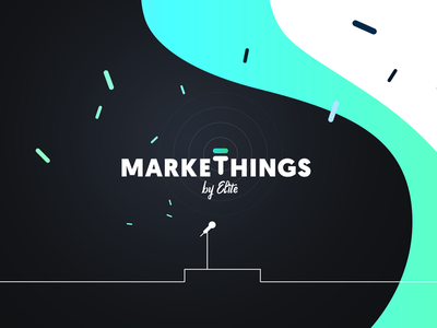 Visual identity for Markethings conference logotype stage slovakia bratislava conference event markethings marketing identity design identity logo design logo