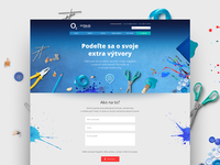 O2 campaign key visual & microsite