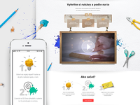 Landing page for O2 handmade campaign