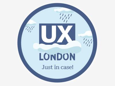 Ux London Stickers sticker design for rainy day ponchos