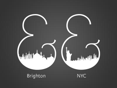 Ampersand Locations typography logo