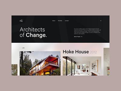Architect Website Concept product branding property houses house landing page homepage portfolio practice studio architect architecture simple minimal design web