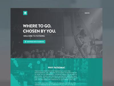 Fatsoma Homepage Concept 2
