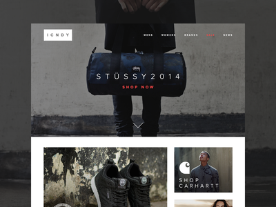 ICNDY - eCommerce Clothing Site Freebie
