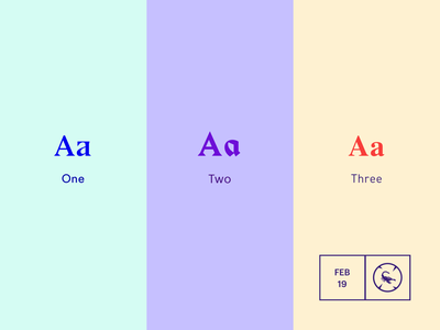 Colour Experiments typography branding simple design color colour