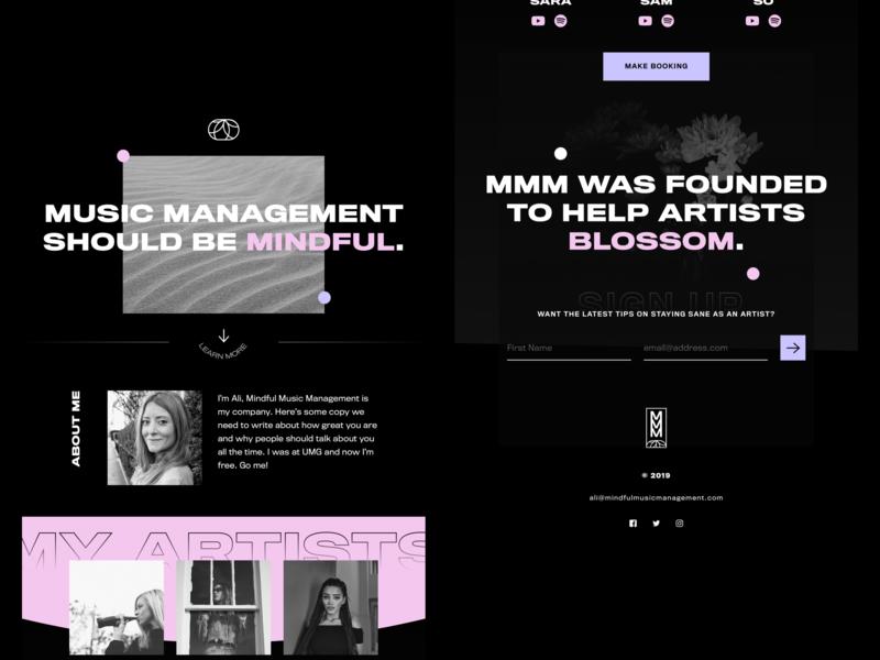 Mindful Music Management - Web Concept