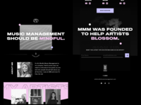 Mindful Music Management - Web Concept