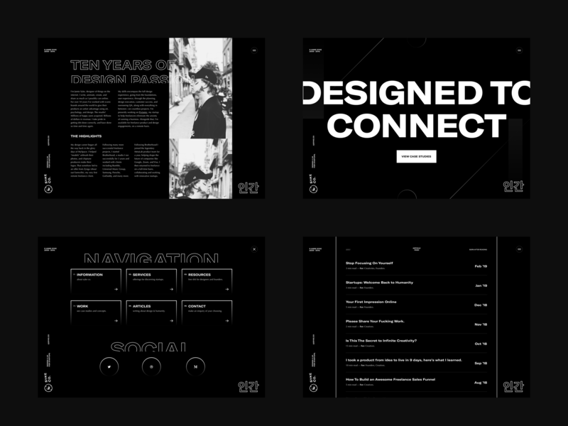 SYKE - Type Experiments branding simple minimal design whatever about home menu blog portfolio personal site web typography