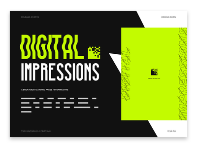 Digital Impressions - Concept contemporary design website landing page cover book