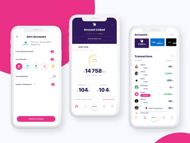Finmo - Freelance Banking Simplified taxes freelance fintech banking mobile ios
