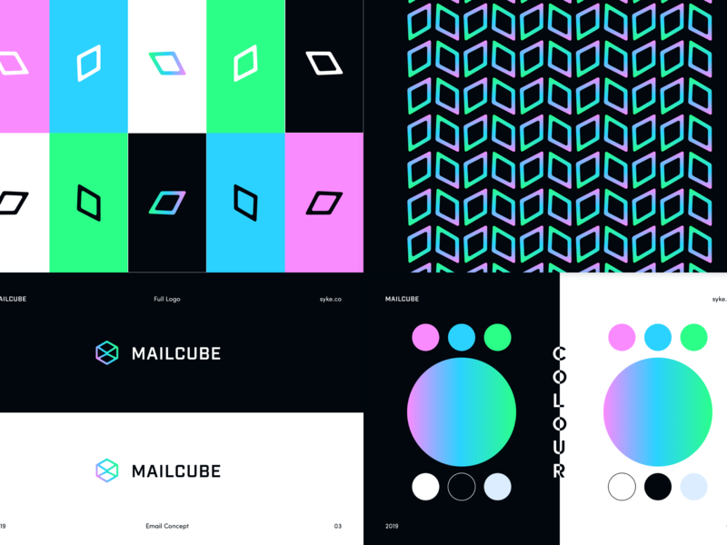 Mailcube - Branding Guidelines 03 product pattern colour logo design branding guidelines