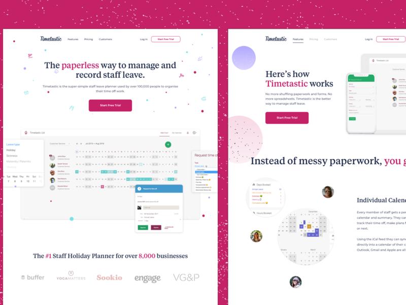 Timetastic - Website Redesign