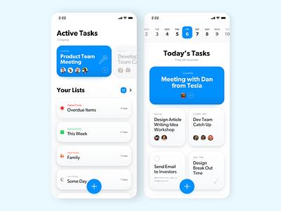 Task Management App product ux simple ui design app management task todo