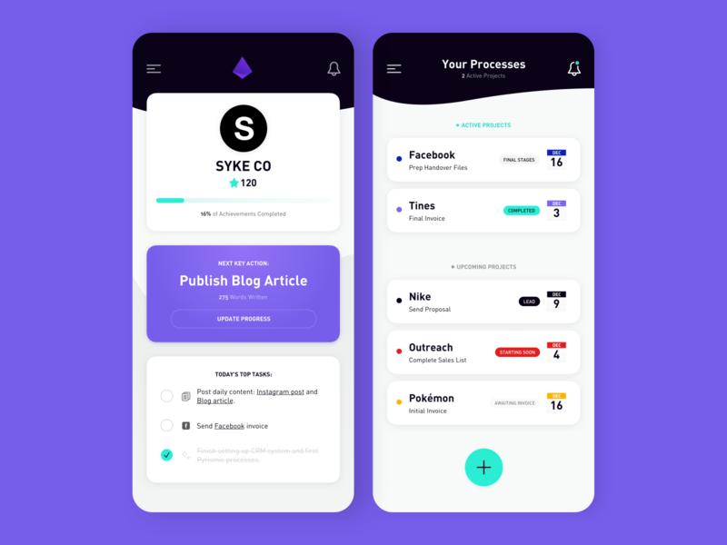 Freelance Management App startup ux product branding minimal simple ui iphone ios app task crm management freelance