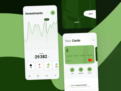 Banking / Investment UI Kit - Concept 2