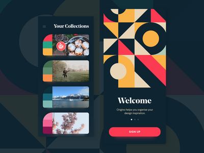 Inspiration Collection App mobile iphone ios pattern colours inspiration app moodboard