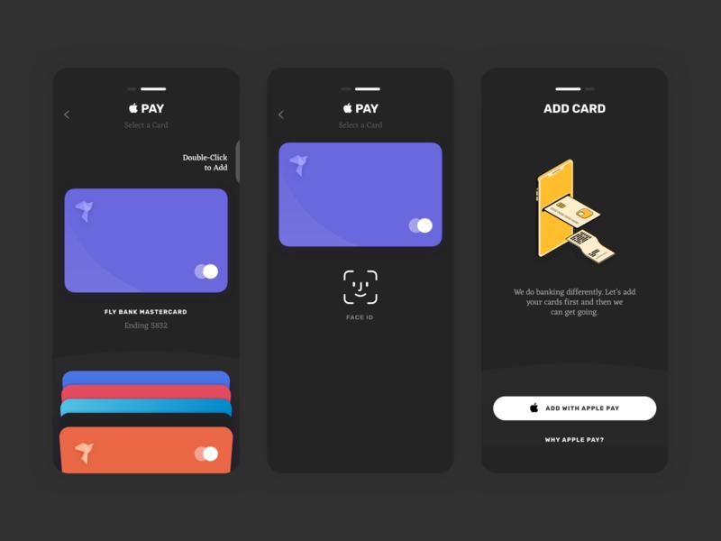Banking UI Kit - Select a Card - Dark Mode