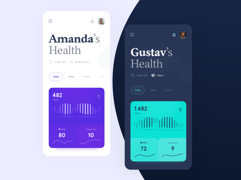 Medical Health Monitoring App vitals design care iphone ui ios app doctor hospital graph sleep bpm monitor wellbeing health medicine medical