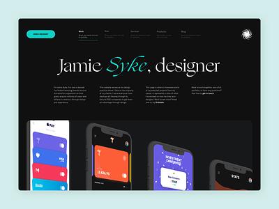 SYKE 2020 - Header Adjustments typography minimal simple web landing page webflow colour logo brand branding personal branding website portfolio personal site