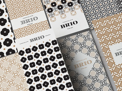 Brio Patterns logo pattern symbol identity classic