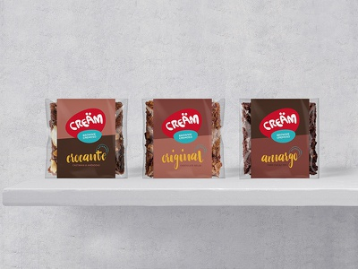 Creäm brand label packaging exhibitor sticker brownies