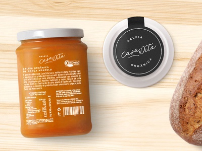 Casa Dita Packaging label eco sticker minimal fruits packaging jam