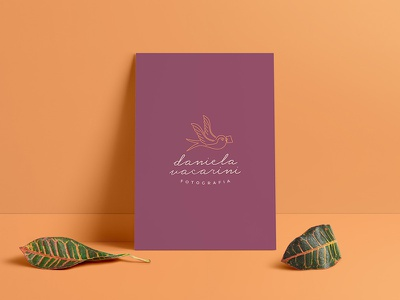 Dani Vacarini Logo 2 swallow bird logo brand card minimal nature