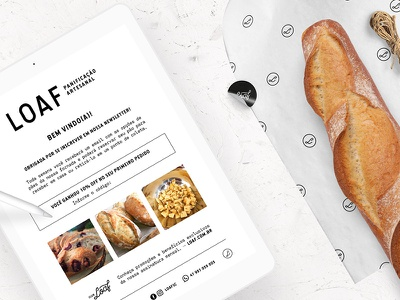 Loaf Newsletter brazil packaging logo branding brand graphic design identity artisan food loaf bread bakery