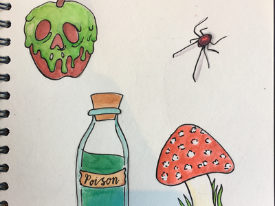 Inktober: poisonous poison ink illustration illustrations illustrator poisonous inktober