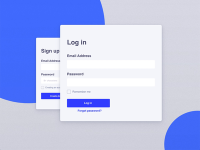 Sign up and sign in switch concept signup form signup rebound playoff form design adobe xd