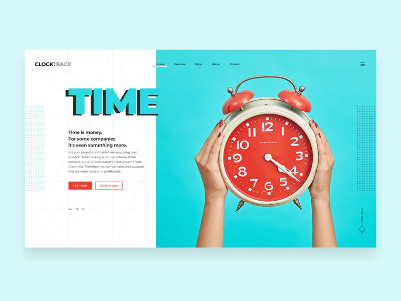 Time tracking soft app site. typography grid time tracking time tracker time management landing page landing software company software clock ux ui