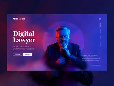 Digital Lawyer digital lawyers lawyer law landing page landing grid design dark ux ui