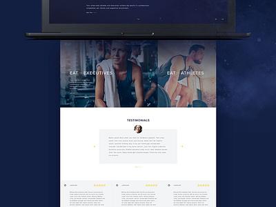 Fitness Training Website UI Design