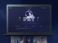 Fitness Training Website UI Design