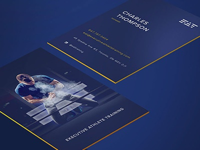 Business card Design business card edge painting personal training gym fitness design