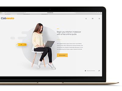 Website UI design for Cabneato steps slider design website ui