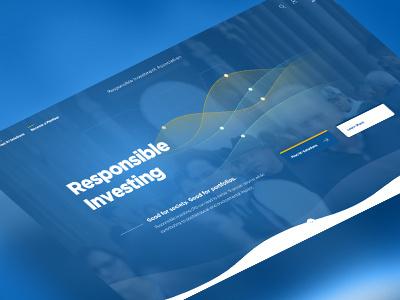 Responsible Investing UI Design xd adobe page landing design ux ui investing responsible