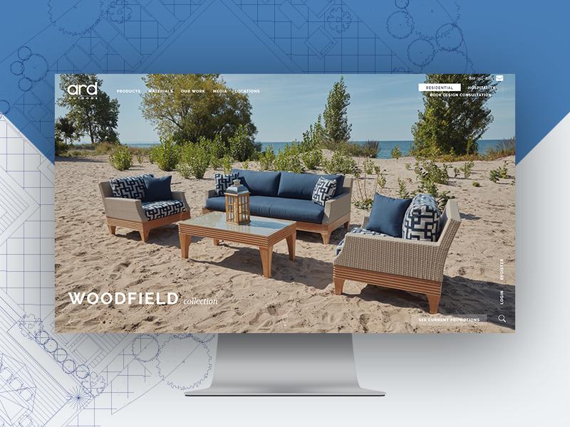 Outdoor Furniture purchase product mobile responsive slider fullscreen ui design web website furniture outdoor