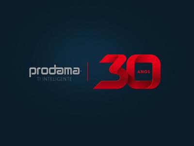 30 anos years 30 anniversary logo