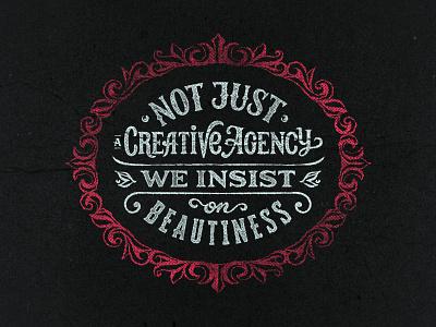 Not Just a Creative Agency. Self promo lettering illustration logo branding lettering