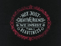 Not Just a Creative Agency. Self promo lettering
