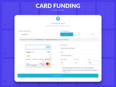 Card Funding Concept