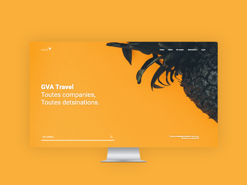 Hello Dribbble! flat ux agency web minimal branding orange design material modern clean ui