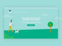 Budi - Smart dog collar website UI Design impression