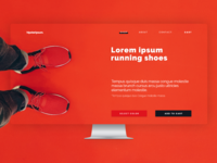 Running shoes product page concept